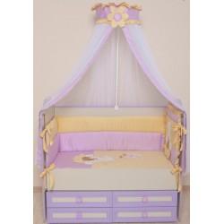 Комплект в детскую кроватку 7 предметов Селена «Пасечник»  АРТ. - 64