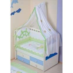 Комплект в кроватку 7 предметов Селена «Морячок» АРТ. - 82