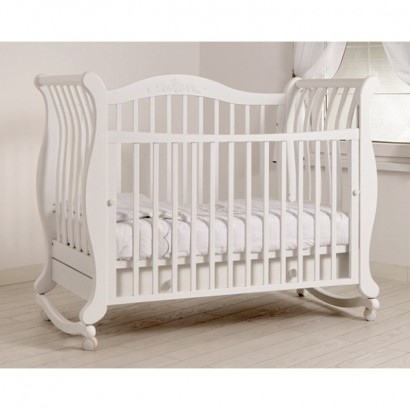 Детская кроватка для новорожденного Гандылян Габриэлла колёса+качалка+ящик