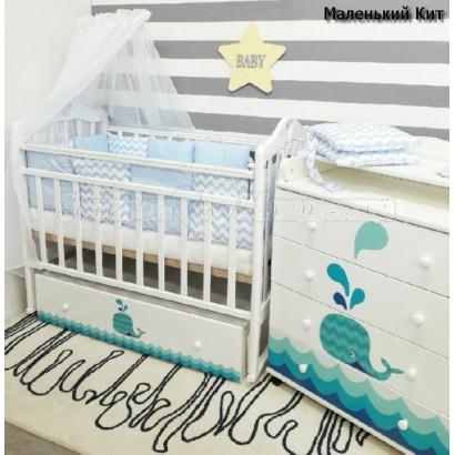 Детская комната новорожденного ByTwinz Маленький Кит