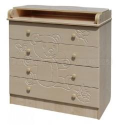 Детский пеленальный комод Сафаня 1 с рисунком 4 ящика