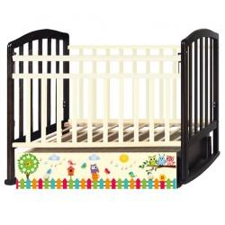 Детская кроватка Антел Алита 4 Поющие Совята поперечный маятник с ящиком