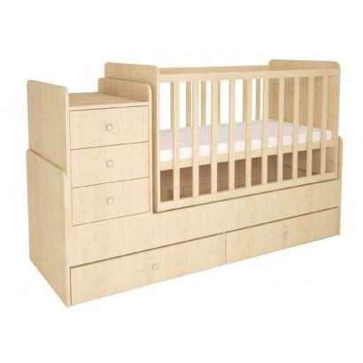 Детская кроватка - трансформер с комодом Polini Simple 1100