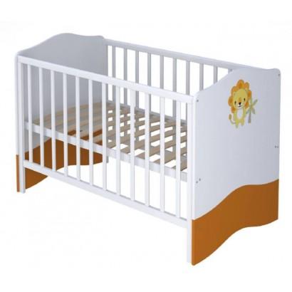 Детская кроватка для новорожденного-трансформер Polini Basic Джунгли