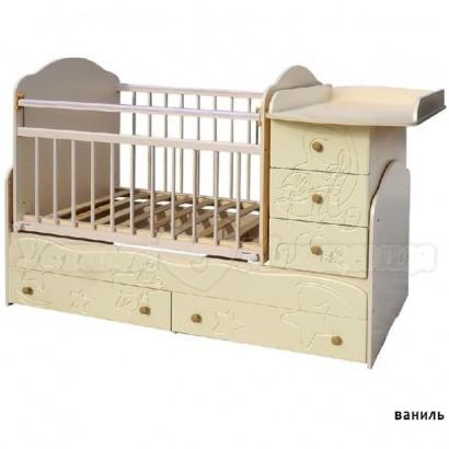 Детская кроватка трансформер маятник Сафаня 3