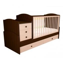 Детская кроватка трансформер с маятником Антошка-2 (Можгинский лесокомбинат)