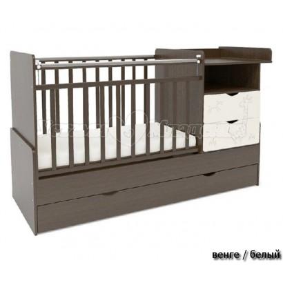 Детская кроватка трансформер СКВ-5 Жираф 55000*