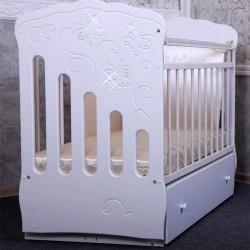 Детская кроватка для новорожденного-поперечный маятник Островок уюта Бабочки