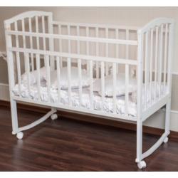 Детская кроватка для новорожденного Агат Золушка-1 колёса   качалка