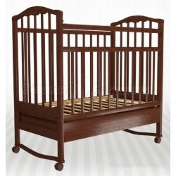 Детская кроватка Агат Золушка-2 колёса + качалка + ящик