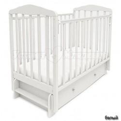 Детская кроватка для новорожденного СКВ Берёзка New 12700 продольный маятник с ящиком
