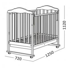 Детская кроватка для новорожденного СКВ Берёзка 12111 качалка+колёса+ящик