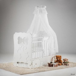 Детская кроватка для новорожденного с поперечным маятником Островок уюта Мальвина