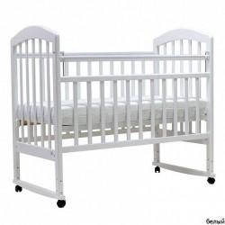 Детская кроватка для новорожденного качалка+колёса Топотушки Лира-2