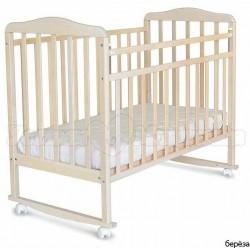 Детская кроватка для новорожденного СКВ Митенька New 16011 качалка+колёса