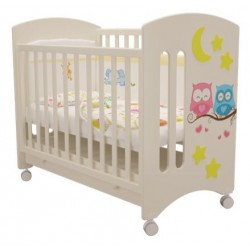 Детская кроватка для новорожденного колесо+ящик Laluca Софи (Совята) Можгинский лесокомбинат
