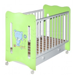Детская кроватка для новорожденного колесо+ящик Laluca Руслана (Медвежонок) Можгинский лесокомбинат