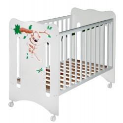 Детская кроватка для новорожденного на колёсах Laluca Руслана (Кроха Енот) Можгинский лесокомбинат