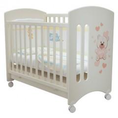 Детская кроватка колесо+ящик Laluca Софи (Мишка Тедди) Можгинский лесокомбинат