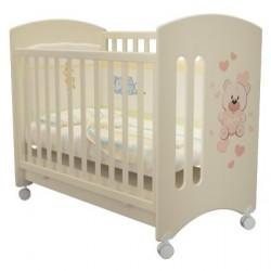 Детская кроватка для новорожденного колесо+ящик Laluca Софи (Мишка Тедди) Можгинский лесокомбинат