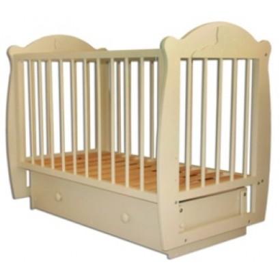 Детская кроватка для новорожденного Мишутка (поперечный маятник ящик) Можгинский лесокомбинат
