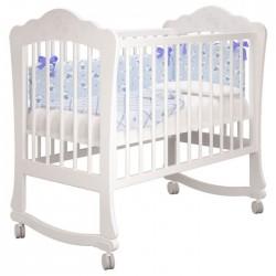 Детская кроватка для новорожденного качалка на колёсах Милано Амалия Можгинский лесокомбинат