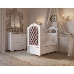 Кроватка для новорожденного Гандылян Софи Люкс продольный маятник на колесах+ящик