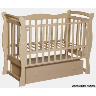 Кроватка для новорожденного Антел Северянка 1 (поперечный маятник+закрытый ящик)