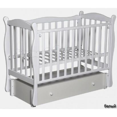 """Кроватка для новорожденного Антел """"Северянка 2"""" 2 (продольный маятник+ящик)"""
