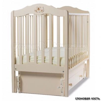 Кроватка для новорожденного Angela Bella Сюзанна (универсальный маятник+ящик)