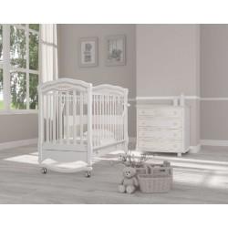 Кроватка для новорожденного Гандылян Шарлотта Люкс (качалка + колёса + ящик)
