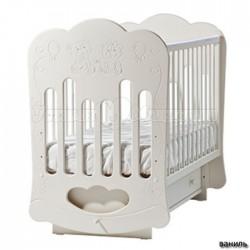 Детская кроватка для новорожденного поперечный маятник Лель Кубаньлесстрой Baby Sleep-3 (тучка) БИ 45.2