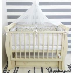 Детская кроватка для новорожденного byTWINZ Венеция универсальный маятник