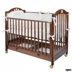 Детская кроватка для новорожденного Mibb Tender колесо+ящик