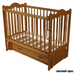 Детская кроватка Счастливый малыш Дюймовочка продольный маятник с ящиком