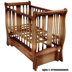 Детская кроватка Счастливый Малыш Венеция универсальный маятник с ящиком