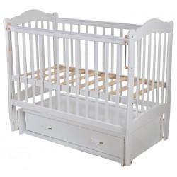 Детская кроватка Счастливый малыш Варвара (маятник поперечный, ящик)