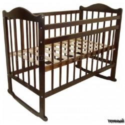 Кроватка для новорожденного Мой малыш Ивашка 04 качалка + колёса