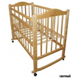 Детская кроватка Мой малыш Ивашка 04 качалка + колёса
