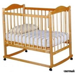 Детская кроватка для новорожденного Мой малыш 05 колёса качалка