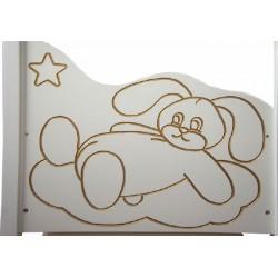 Детская кроватка Мой малыш 12 оргстекло продольный маятник с ящиком