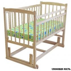 Детская кроватка поперечный маятник Бэби Массив