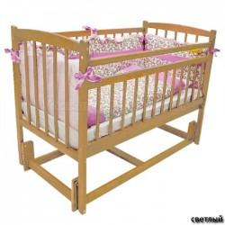 Детская кроватка продольный маятник Бэби Массив