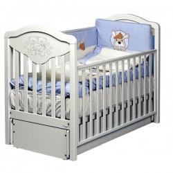 Кроватка для новорожденного Baby Italia Gioco LUX продольный маятник + ящик
