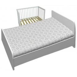 Кроватка детская приставная Фея 100