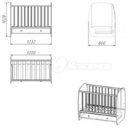 Детская кроватка для новорождённого Polini French 710
