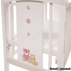 Кроватка для новорожденного Polini Classic 621 Плюшевые Мишки