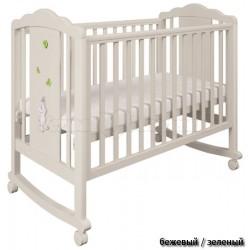 Детская кроватка Polini Classic 621 Зайки