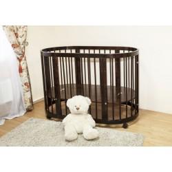 Детская круглая кроватка для новорожденного на колесах Можга Красная звезда Паулина С321