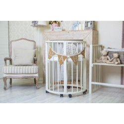 Детская круглая кроватка для новорожденного Valle Domenica 9 в 1
